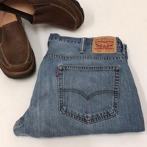 Men's Levi's 569 Jeans Med Wash Sz 38x30